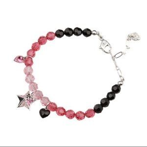 Swarovski Crystal Beaded Heart & Star Bracelet
